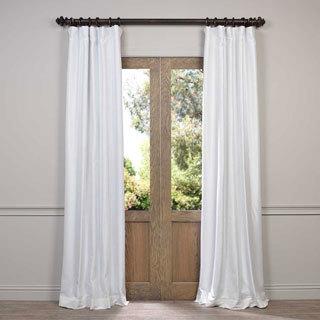 Amazing Exclusive Fabrics Faux Silk Taffeta Solid Blackout Curtain Panel white blackout curtains