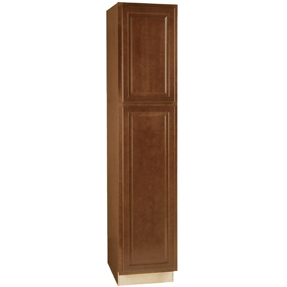 Amazing Hampton Assembled 18x84x24 in. Pantry Kitchen Cabinet in Cognac pantry kitchen cabinets