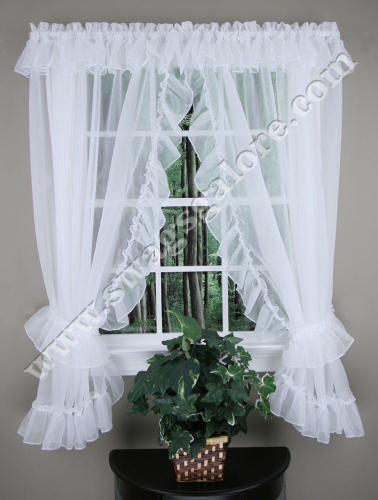 Amazing Jessica Ruffled Priscilla Curtains - 54 priscilla kitchen curtains