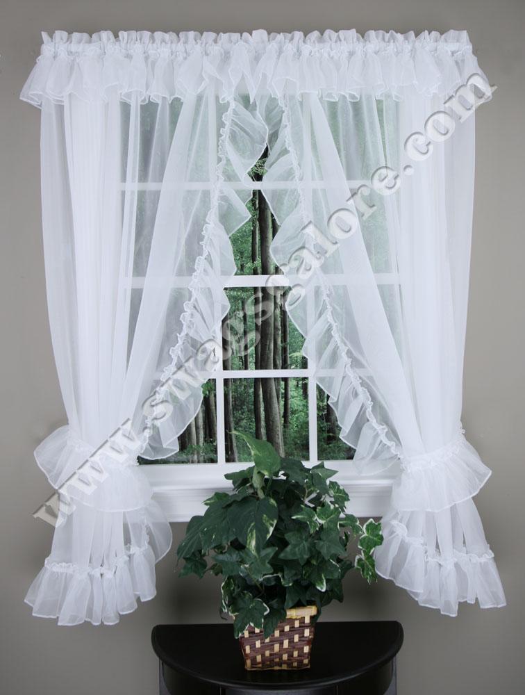 Amazing Jessica Ruffled Priscilla Curtains - 54 priscilla kitchen curtains