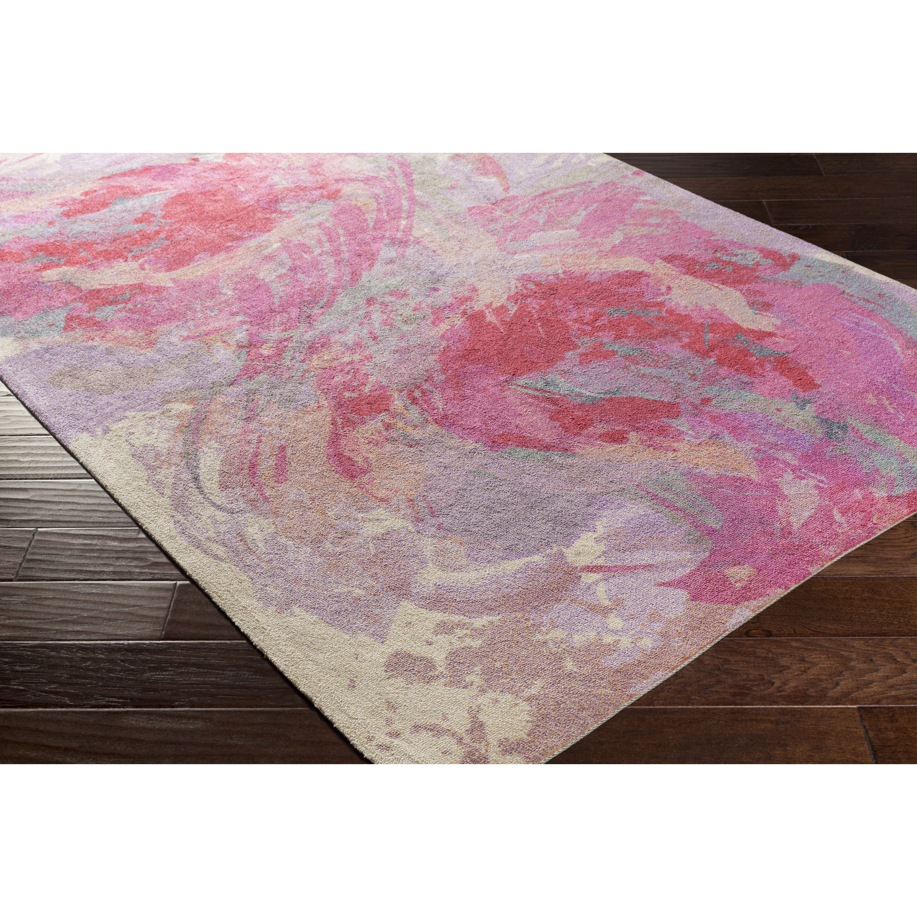 Amazing Latitude Run Donie Hot Pink Area Rug hot pink area rug