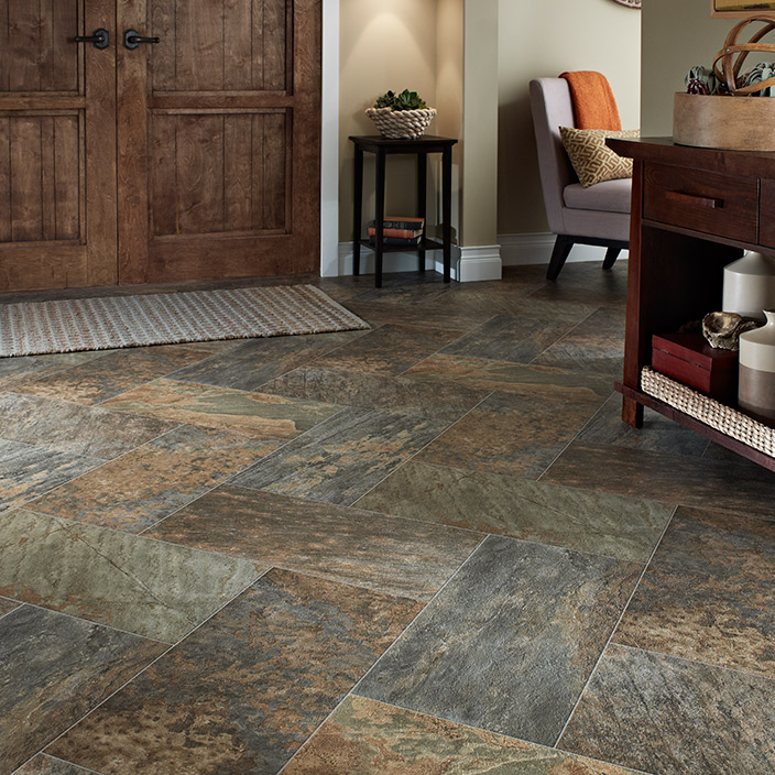 Amazing Luxury vinyl Sheet Majesty slate look pattern flooring for your home luxury sheet vinyl flooring