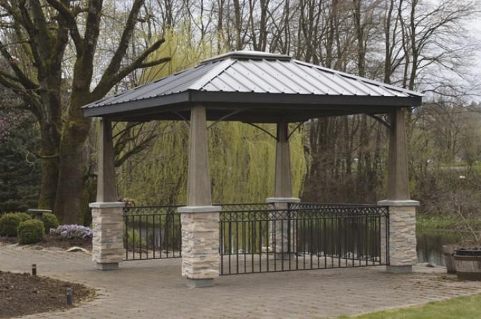 Amazing metal roofed pergola metal patio gazebo