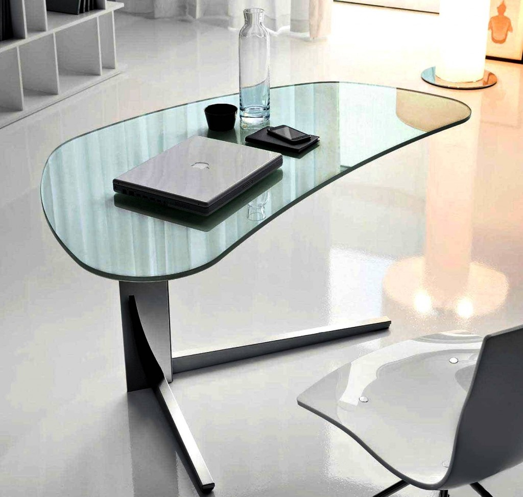 Amazing Modern Desks for Small Places: Modern Shape modern desks for small spaces