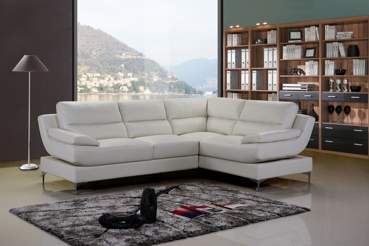 Amazing Monza White Leather Corner Sofa Right Hand white leather corner sofa