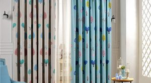 Amazing Nursery room curtains of Tree Patterns for Kids Bedroom nursery blackout curtains
