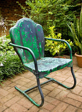 Amazing painted outdoor lawn chair painting outdoor metal furniture