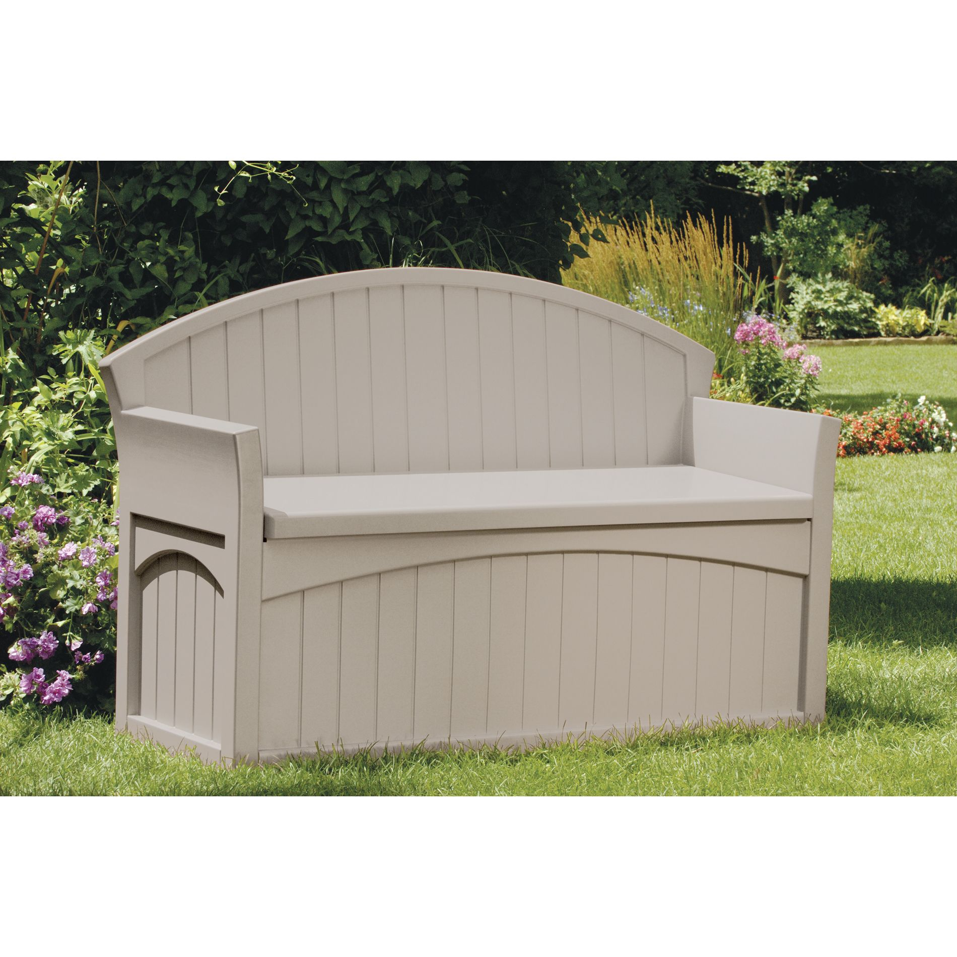 Amazing Patio Bench w Storage: Organize the Outdoors with Sears suncast patio storage bench