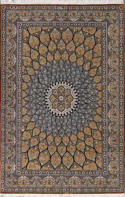 Amazing Qom- Qom rugs are made in the Qom Province of Iran, around 100 traditional oriental rugs