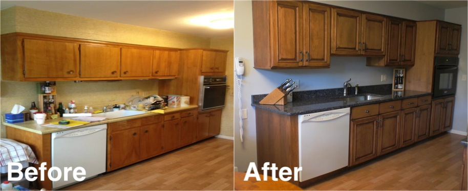 Amazing Refacing Kitchen Cabinets Before And After - Modern Kitchen Trends kitchen cabinet refacing before and after