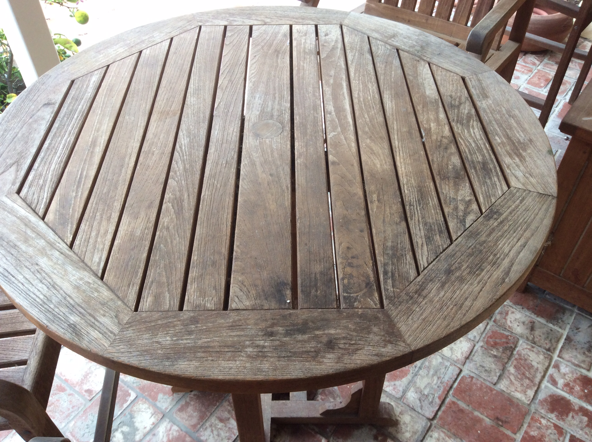Amazing Refreshing Weathered Teak finishing teak outdoor furniture