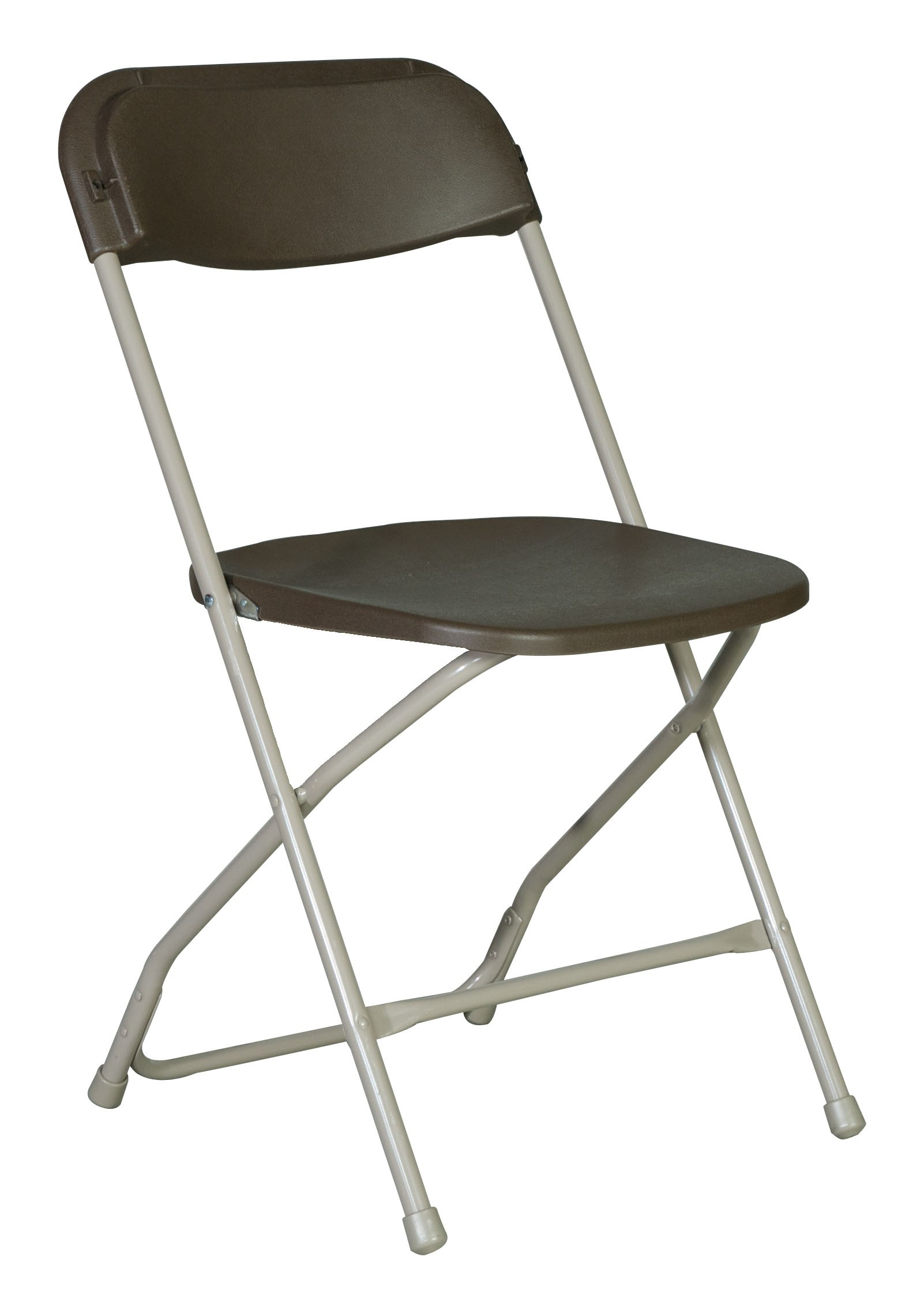 Amazing Rhino-Series™ Plastic Folding Chair - Brown #2190 plastic folding chairs