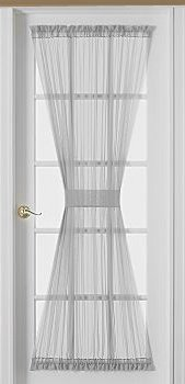 Amazing Sheer Voile 72-Inch French Door Curtain Panel, White french door curtains