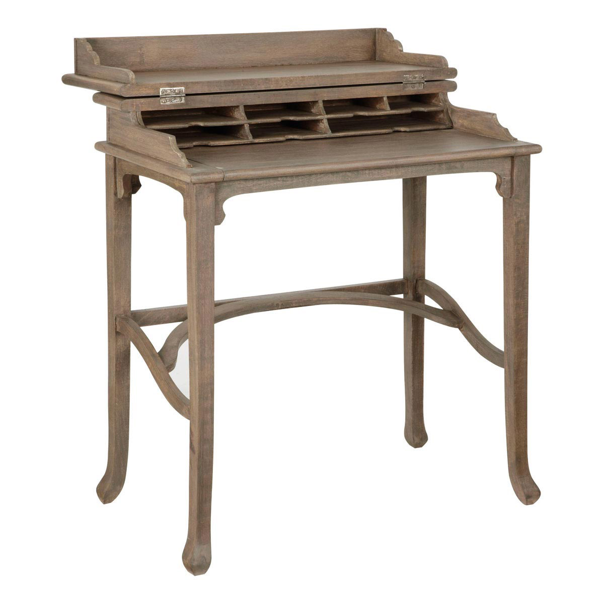 Amazing Small Writing Desk - Handmade Campaign Desk - OKA small writing desk