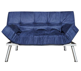 Amazing The College Cozy Sofa Mini-Futon Navy Dorm Furniture - Add Seating To Dorm dorm room furniture