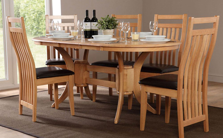 Amazing Townhouse Oval Extending Dining Table and 6 Bali Chairs Set extending dining table and chairs