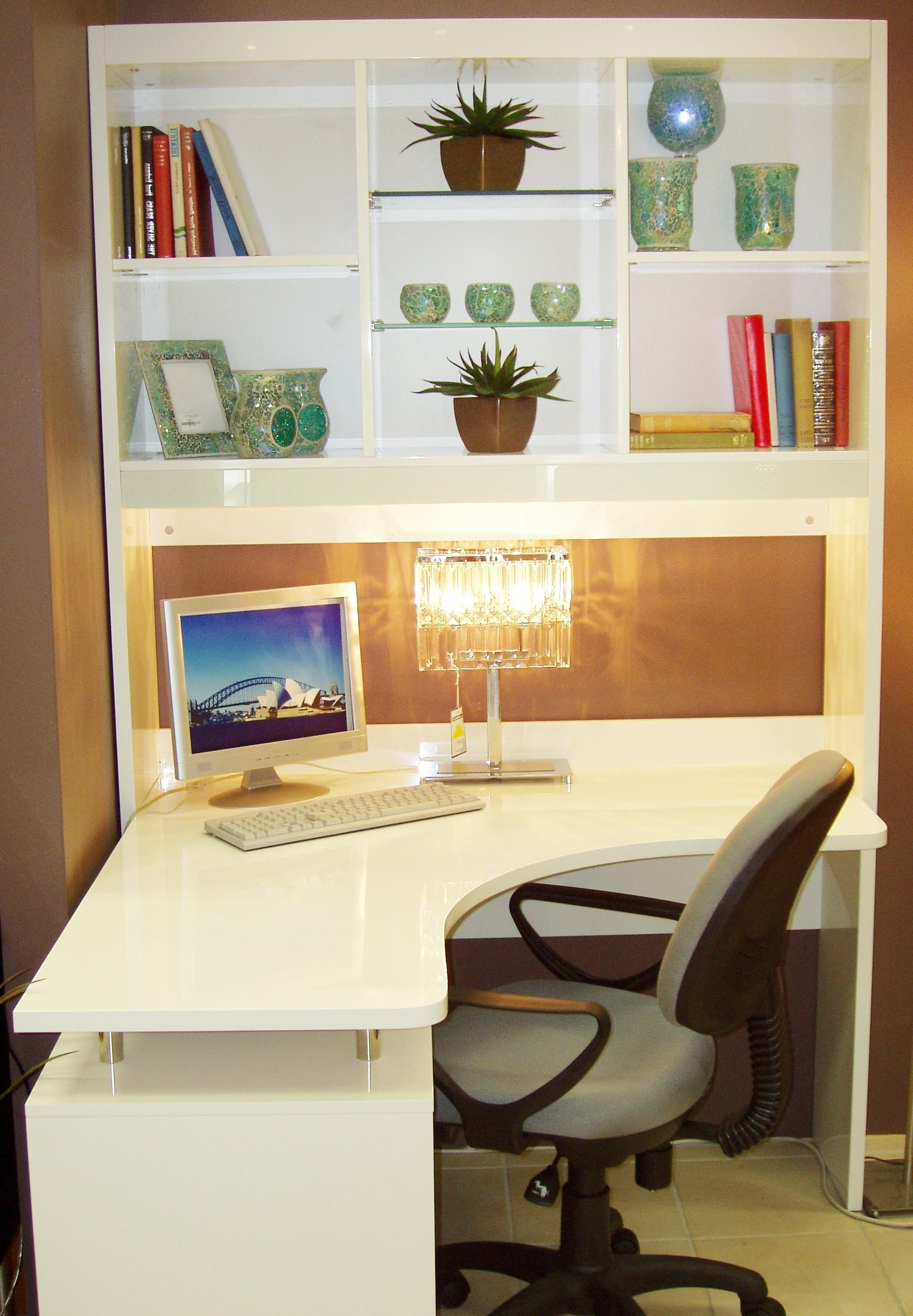 Amazing White Corner Desk With Shelves : white corner desk with shelves White corner desk with shelves