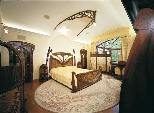 Beautiful Art Nouveau Style House Villa Liberty Moscow, Russia,Art Nouveau Style  House, art deco bedroom furniture