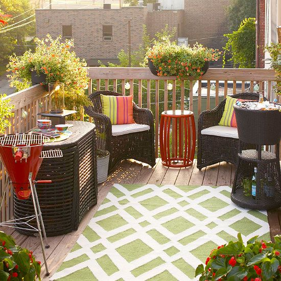 Awesome 12 Ways to Outfit a Small Deck outdoor furniture for small deck