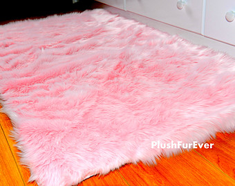 Awesome 24 pink fluffy rug