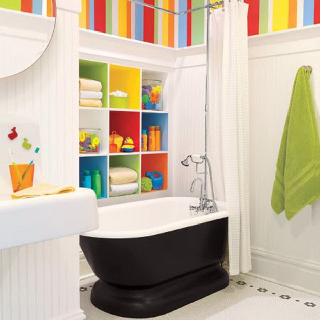 Awesome 30 Colorful and Fun Kids Bathroom Ideas kids bathroom decor ideas