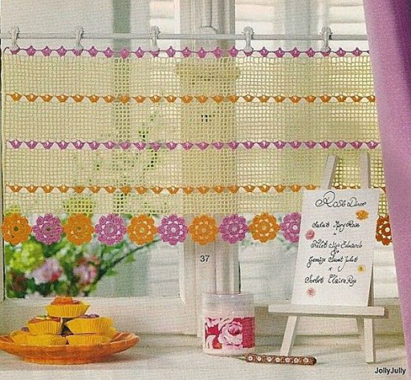 Awesome 6 crochet kitchen curtains