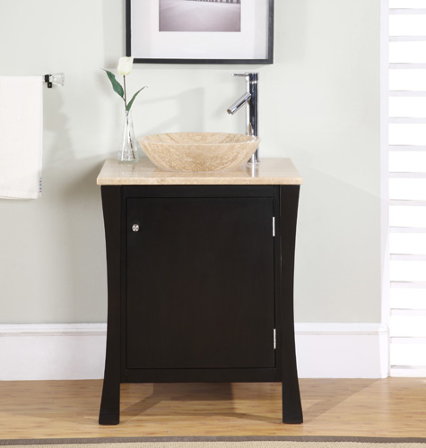 Awesome Accord Contemporary 26 inch Single Vessel Sink Bathroom Vanities single sink bathroom vanity