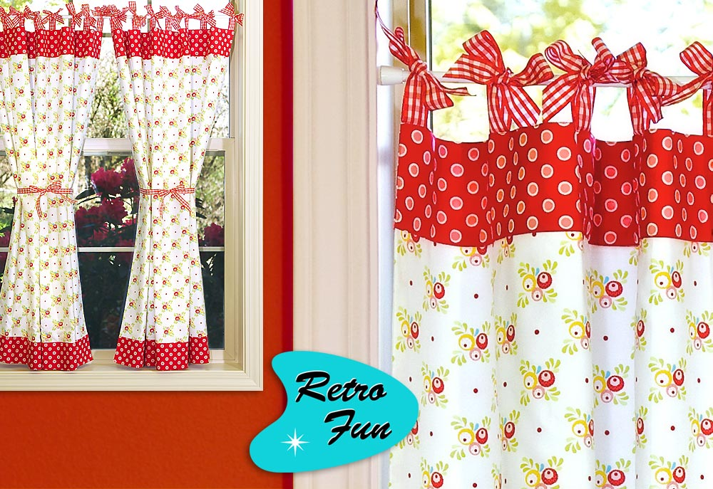 Awesome Click to Enlarge retro kitchen curtains