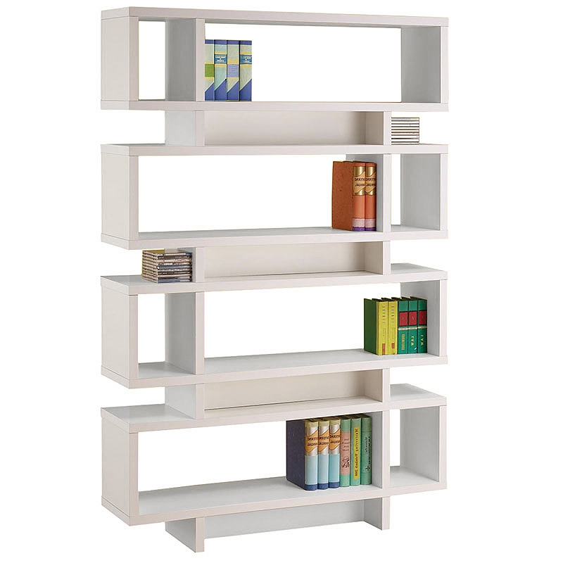 Awesome Cubic Modern White Bookcase Modern Shelving Contemporary Bookcases Eurway modern white bookshelf