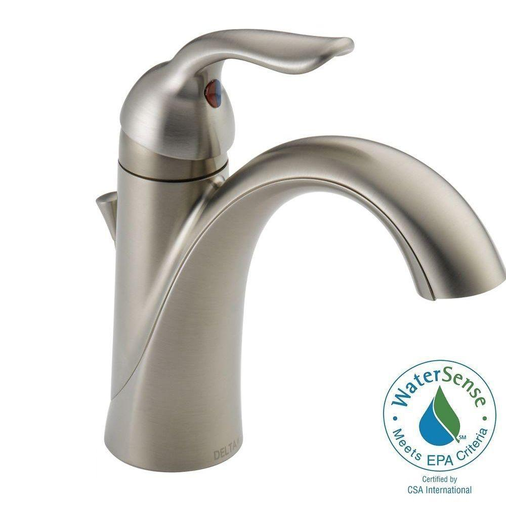 Awesome Delta Lahara Single Hole Single-Handle Bathroom Faucet with Metal Drain  Assembly single handle bathroom faucet