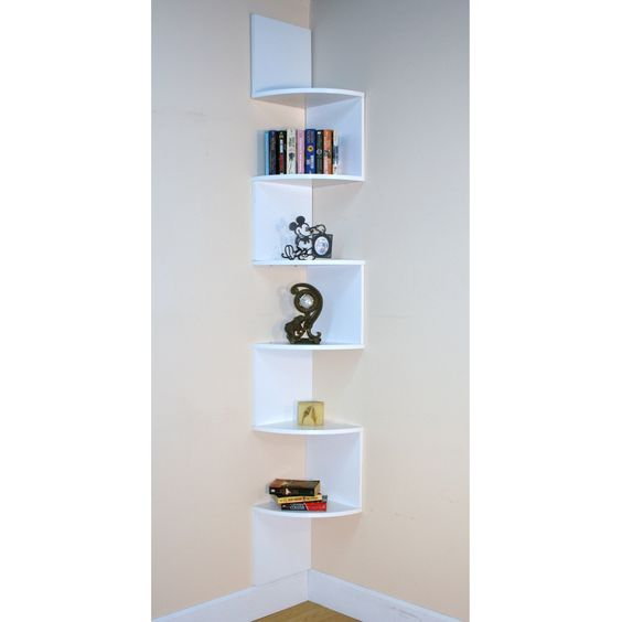 Awesome Have To It Premier 6 Shelf Corner Bookcase White 69 98 white corner bookcase