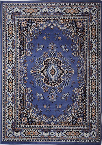 Awesome Home Dynamix Premium 7069-310 3-Feet 7-Inch by 5-Feet 2-Inch Area Rug, blue oriental rugs