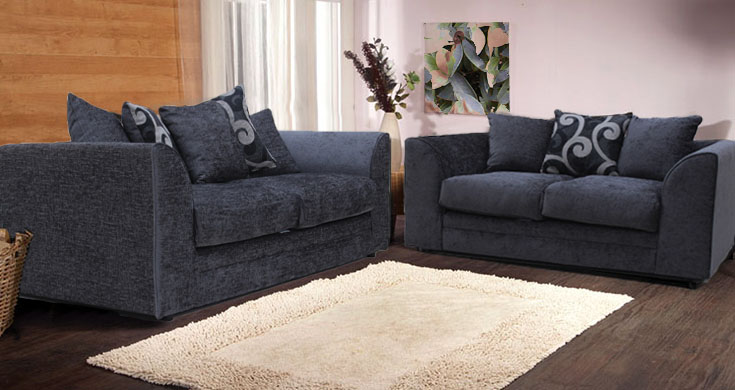Awesome Jackson Chenille Grey Fabric Sofa Collection grey chenille sofa
