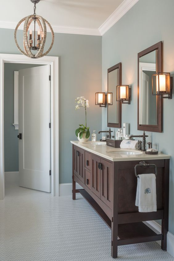 Awesome Mount Saint Anne (wall color) and Gray Cashmere by Benjamin Moore master bathroom paint colors