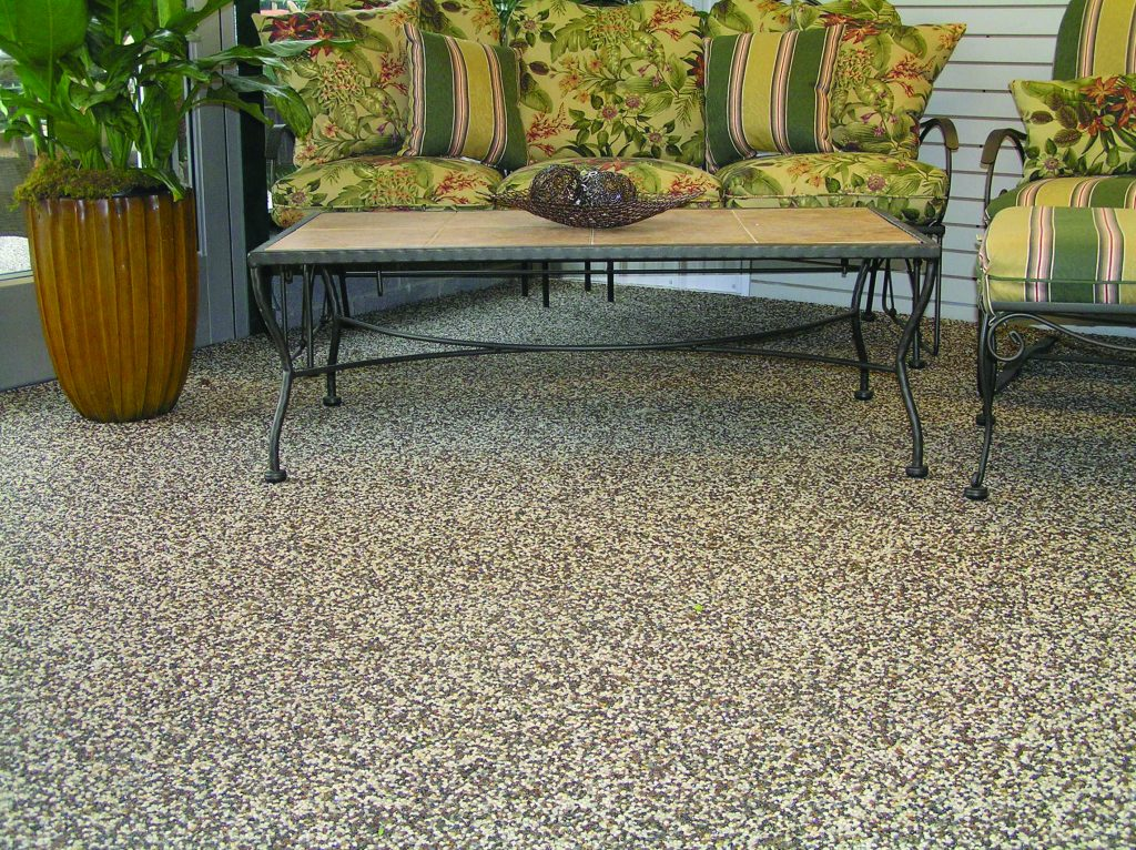 Awesome Nature Stone Flooring in Patio with Furniture outdoor patio flooring