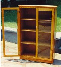 Awesome Oak Bookcase W Gl Doors Decarlo Woodworks Custom Woodworking Your Way oak bookcase with glass doors