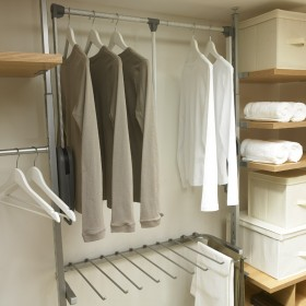 Awesome Pull down wardrobe hanging rail   Wardrobe storage solutions wardrobe hanging storage solutions