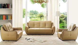Awesome Quality Bonded Leather modern style sofa sets