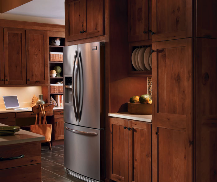 Awesome ... Rustic Hickory kitchen cabinets by Homecrest Cabinetry ... rustic hickory kitchen cabinets