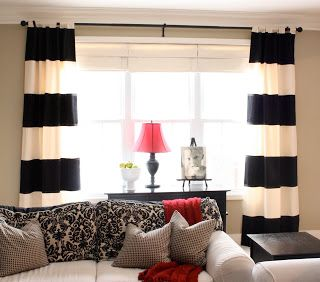 Awesome The Creative Imperative: Black and White Horizontal Striped Curtains {made  from black and white striped curtains