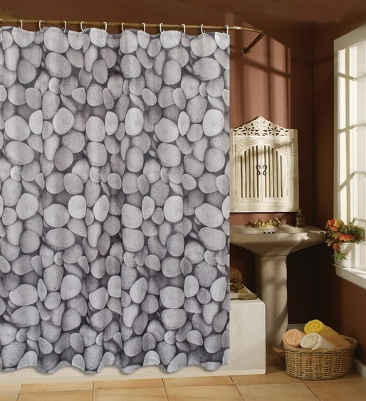 Awesome This Stone Fabric Shower Curtain is Really Beautiful and Unique.It is Very unique fabric shower curtains