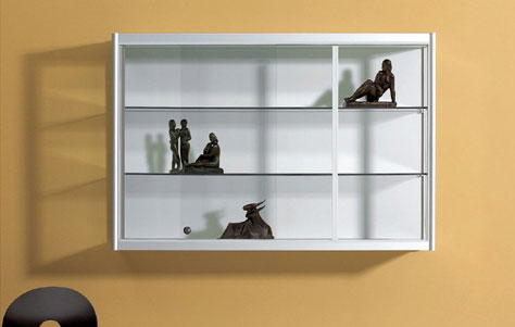 Awesome Vetro wall mounted bookcase with doors