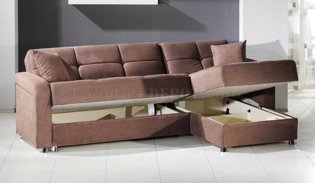 Awesome Vision Rainbow Truffle Sectional Sofa Bed by Sunset w/Storage sectional sofa bed with storage