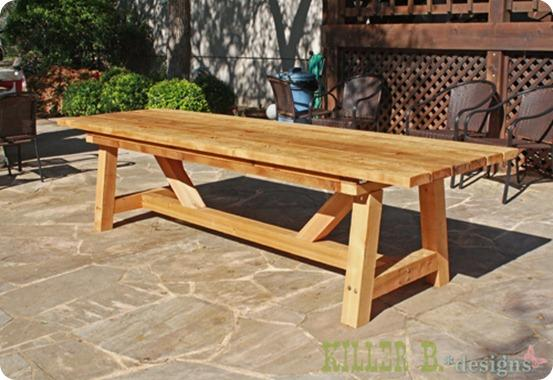 Awesome Wooden Outdoor Table Plans - Wood Patio Furniture Diy. Outdoor Pallet  Furniture wooden outdoor table