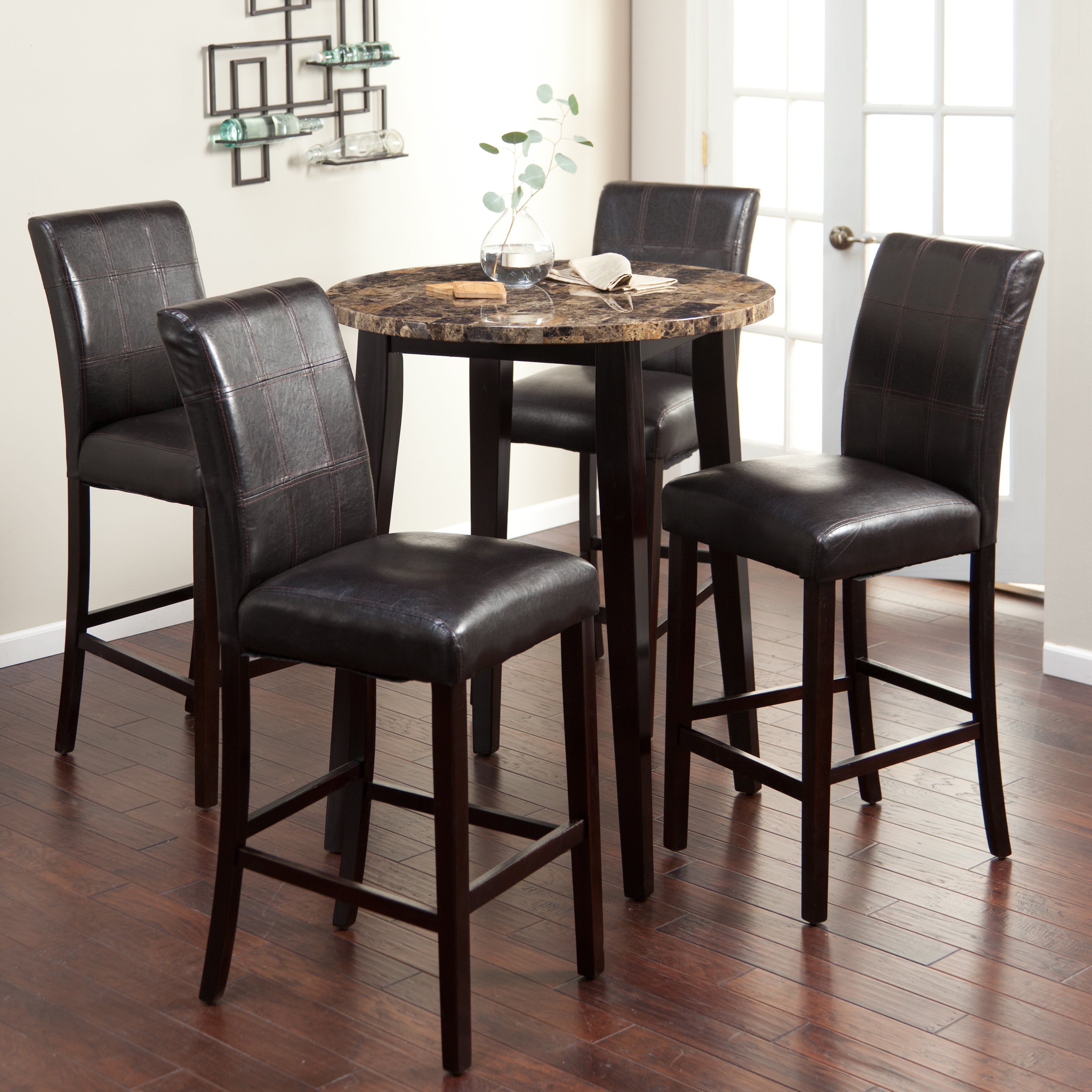 Cozy Palazzo 5 Piece Round Bar-Height Pub Set - Bar u0026 Pub Tables bar height pub table sets