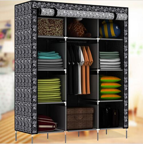 Beautiful 2017 portable storage wardrobe clothes rack Free Shipping! New Large  Portable storage racks for clothes
