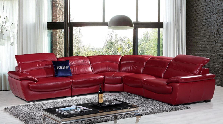 Beautiful Ask a question. Divani Casa Hana Modern Red Leather Sectional Sofa red leather sectional sofa
