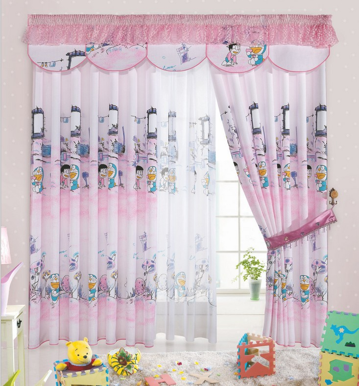 Beautiful cartoon print blackout baby room curtains children girls boys kids infant  soundproof nursery curtains girl