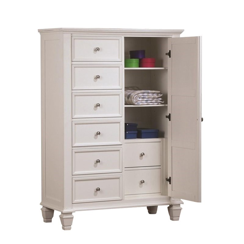 Beautiful Coaster Sandy Beach Armoire in White white armoire with drawers