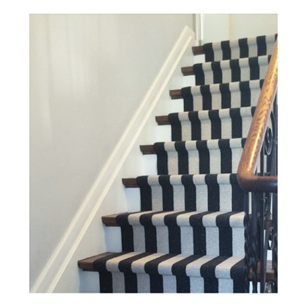 Beautiful Colofrul Striped Staircase Carpet1 Black And White Stair Runner